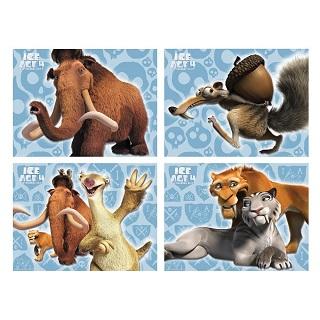 4-teiliges Motivbild Ice Age von Amazon*