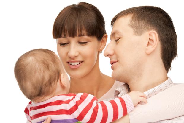 Zweisamkeit im Babyalltag | © panthermedia.net / Lev Dolgachov