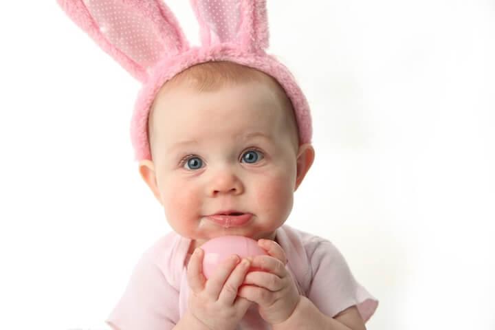 Der Osterhase, auch für Babys und Kleinkinder wichtig | © panthermedia.net / Tera Christianson